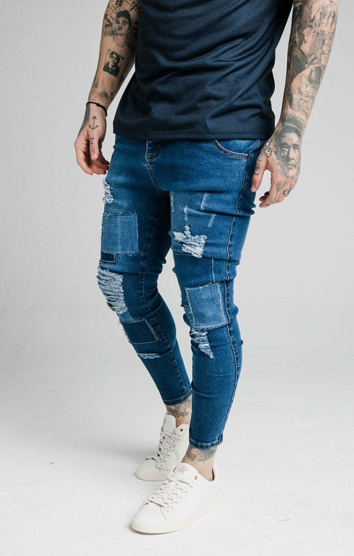 DISTRESSED PATCH DENIMS