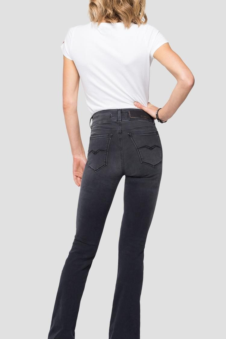 FLARE NEW LUZ DENIM NEGRO