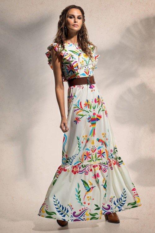 FOLKLORE MAXI DRESS